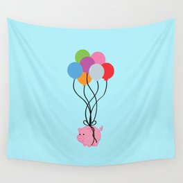 Pigs Can Fly Wall Tapestry