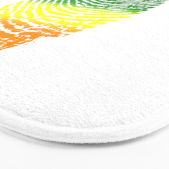 LGBT Pride Fingerprint (Gay Pride) Bath Mat