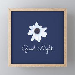 Good Night, Sleepy African Daisy Flower Framed Mini Art Print