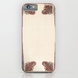 Kashmir North Indian Shawl Print iPhone Case