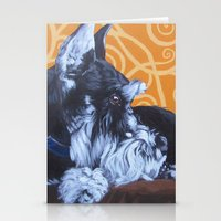 schnauzer Stationery Cards featuring Remmington Schnauzer by Ashley Corbello