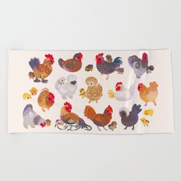Chicken and Chick Beach Towel