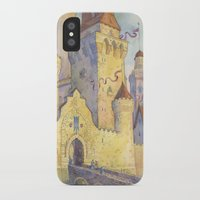 castle iPhone & iPod Cases featuring Castle by Kasheva