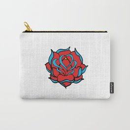 Oldschool Rose Love Carry-All Pouch