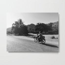 Motor rider in Marocco Metal Print