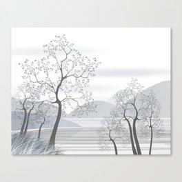 Serenity Mountain Lake Canvas Print