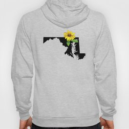 Maryland Silhouette and Flower Hoody