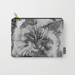AnimalArtBW_Cat_20170907_by_JAMColorsSpecial Carry-All Pouch