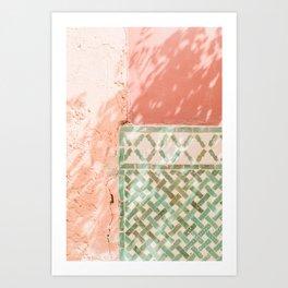 Marrakech Moroccan Tiles Art Print
