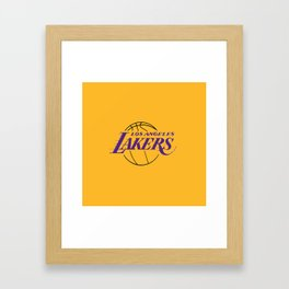 LA LAKERS LOGO Framed Art Print