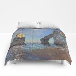 Claude Monet - The Cliffs at Etretat Comforters