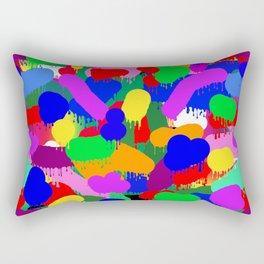 Paint Splodge Colour Abstract Rectangular Pillow