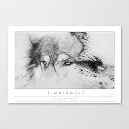 Timberwolf - Fine Print Canvas Print
