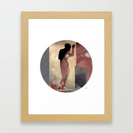 Hayez Meat Woman Collage Framed Art Print