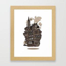 Flying city. Framed Art Print