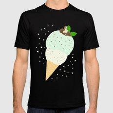 Chocomint icecream star Mens Fitted Tee Black MEDIUM
