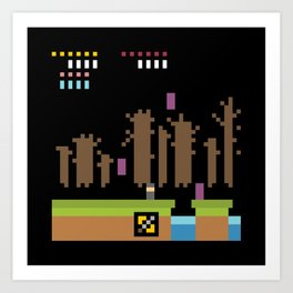 Minimal NES: Ghosts n' Goblins Art Print