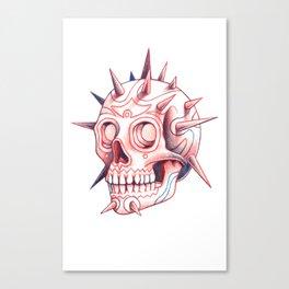 Spinal face B/R Canvas Print