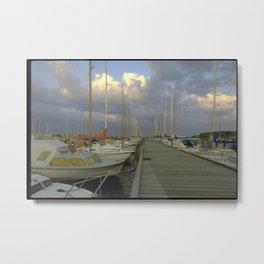 sailing boat pier Metal Print