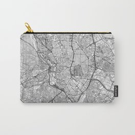Madrid Map Line Carry-All Pouch