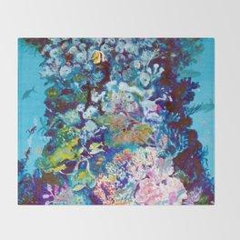 The Barrier Reef, AUSTRALIA               by Kay Lipton Throw Blanket