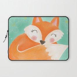 Sweet Sleeping Fox Laptop Sleeve