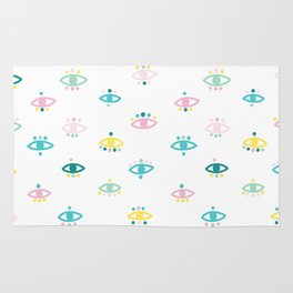 Eyes - Illustration pattern Rug