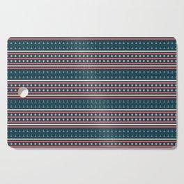 Ships Ahoy Blue/Red Stripe Cutting Board