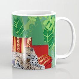 Jungle Dream With Leopard Coffee Mug