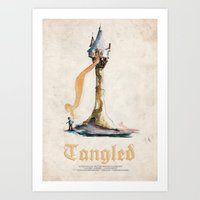 tangled Art Prints featuring Tangled by Archie Bagnall
