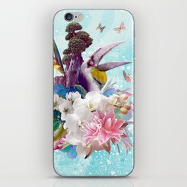 FLORAL HORNBILL / RIO iPhone Skin