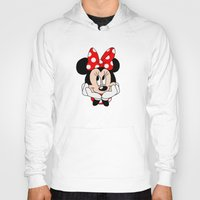 minnie mouse Hoodies featuring Very cute Minnie Mouse by Yuliya L