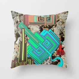 FUTURE FORMS OF EARTH (an adventure in neo-organics) Throw Pillow