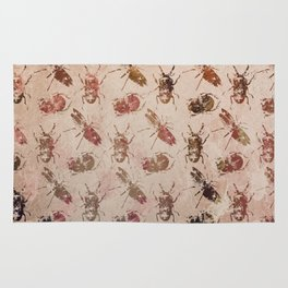hot buggy mess persimmon brown Rug
