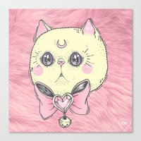 meow Canvas Prints featuring Meow by lOll3
