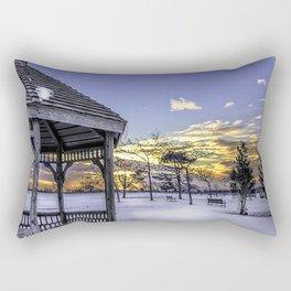 Winter in the Park Rectangular Pillow