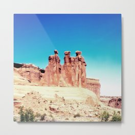 Three Gossips Formation, Arches National Park, Utah Metal Print