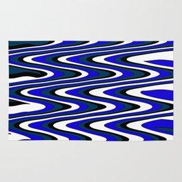 Monochromatic blue slur Rug