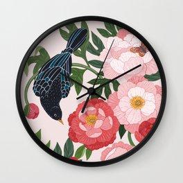 Peonies III Wall Clock