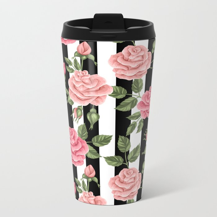 FLORAL PATTERN 6 Metal Travel Mug