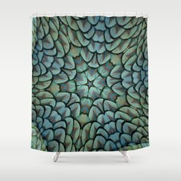 Classic Peacock Feather Kaleidoscope  Shower Curtain