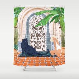 Frienaissance #painting #wildlife #illustration Shower Curtain