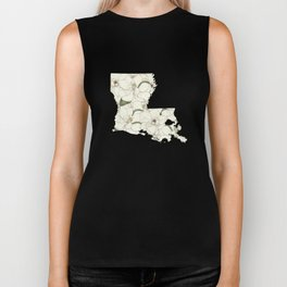 Louisiana in Flowers Biker Tank