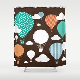 Hot air balloon chocolate Shower Curtain