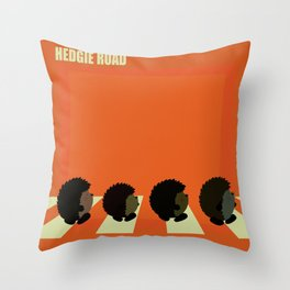 Hedgie road Throw Pillow