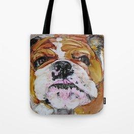 English Bulldog Love Tote Bag
