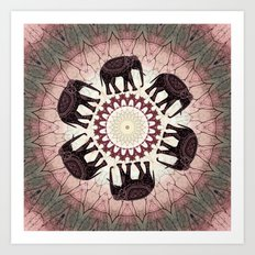 Boho Elephants Art Print