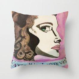 Famous Ava  Throw Pillow