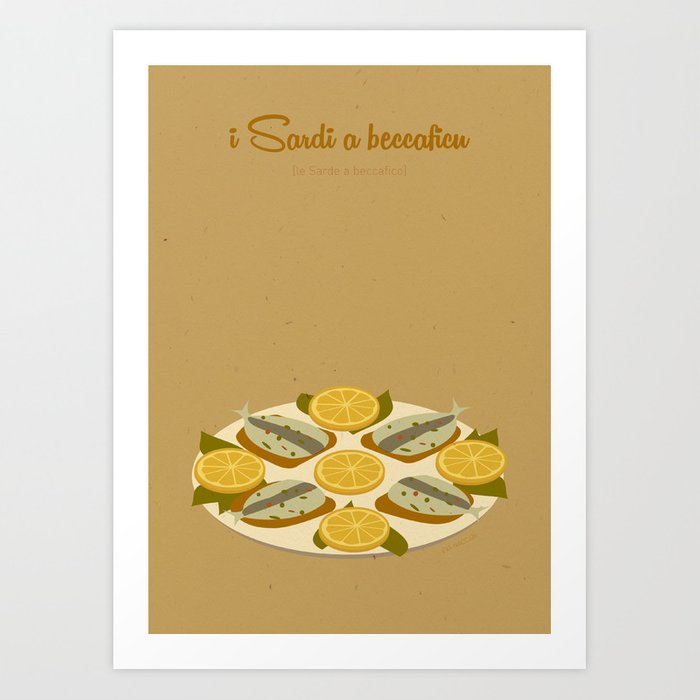 I sardi a beccaficu Art Print
