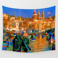 channel Wall Tapestries featuring The Channel by Robin Curtiss